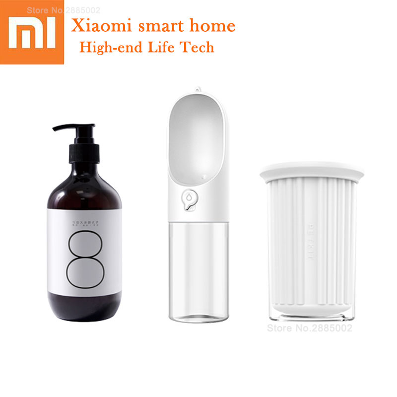 Xiaomi Pet Product Sets Cat Dog Outdoor Portable Water Cup Drinking Bottle Dogs Shower Gel Fragrant Bathing Foot Washing Cup