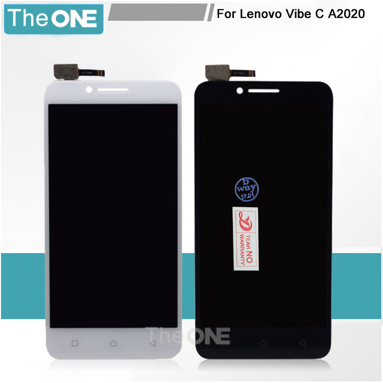 White/Black For Lenovo Vibe C A2020 A2020a40 LCD Display with Touch Screen Digitizer Assembly Smartphone Replacement vibe x2 lcd display touch screen panel with frame digitizer accessories for lenovo vibe x2 smartphone white free shipping track