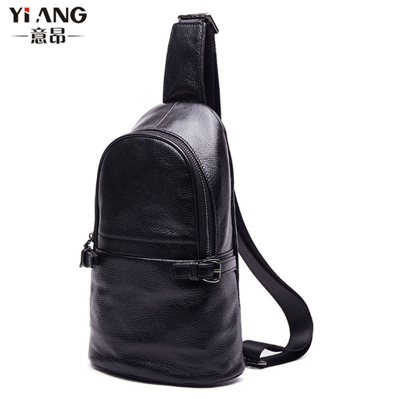 Male Genuine Leather First Layer Cowhide Crossbody Bag Riding Tourism Leisure Cross Body Sling Chest Day Back Pack Male Genuine Leather First Layer Cowhide Crossbody Bag Riding Tourism Leisure Cross Body Sling Chest Day Back Pack