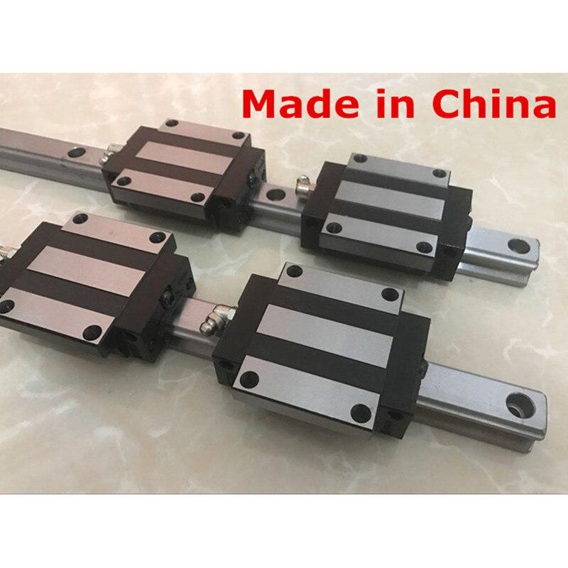 25mm 2 pz lineari della guida di 1100 1200 1500mm HGR25 parti cnc e 4 pz HGW25CA o HGW25CC lineare guida rails blocco HGW25CC