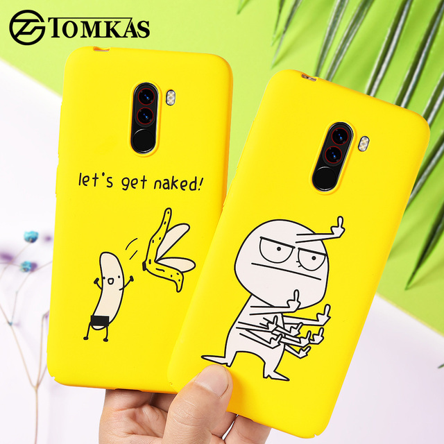 the best attitude ed982 3d754 US $1.49 25% OFF|TOMKAS Funny Banana Bad Boy Pocophone F1 Case Hard Back  Cover Pocophone Case Cute Animal Phone Cases for Xiaomi Pocophone F1 -in ...