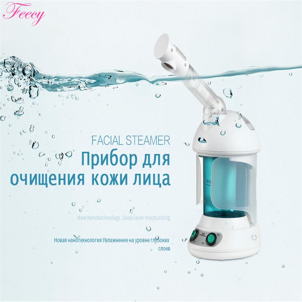 Vapeur faciale professionnelle brume chaude outil de pulvérisation de visage peau du visage Machine à vapeur nettoyage en profondeur nettoyant pour le visage humidificateur pour le visage