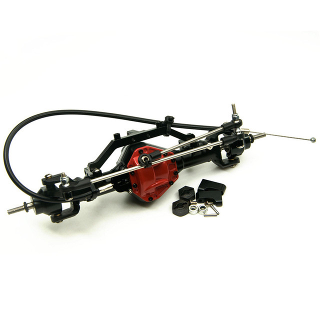 New 1:10 RC Car Parts Front Axle With  Lock High Quality Alloy Front Axle Red For RC 1:10 Crawler AXIAL SCX10 CC01 F350