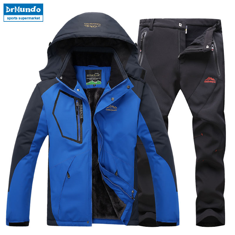 Ski Jacket suits Men Waterproof  Fleece Snow Jacket Thermal Coat Outdoor Mountain Skiing Snowboard Jacket suits Plus Size BrandSki Jacket suits Men Waterproof  Fleece Snow Jacket Thermal Coat Outdoor Mountain Skiing Snowboard Jacket suits Plus Size Brand