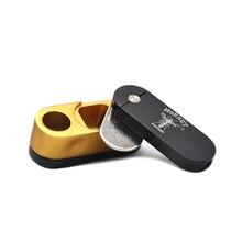 ''HORNET'' Brand Two layer Metal turning Smoking Portable Metal Pipe Portable Filter Reggae Smoking Pipe