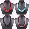 4 Color de moda de estilo bohemio nacional gargantilla de piedra collar único de la armadura de cadena declaración collar de la joyería para mujeres 2015