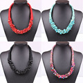 4 moda nacional Bohemian tecer colar de pedra gargantilha declaração colar para as mulheres 2015