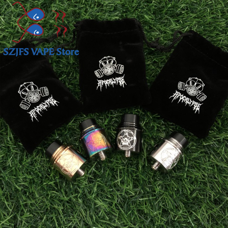 Apocalypse Vital RDA Replaceable Driping Atomizer 24MM Diameter 2.0ml BF PIN Taper Resin Drip Tip 510Thread Vape Mods Vs Drag 2