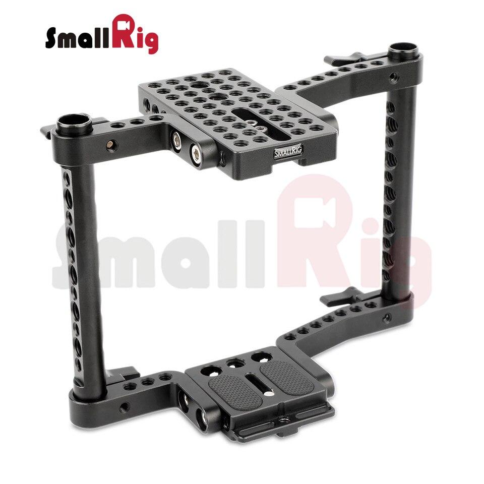 bilder für SmallRig Käfig für mittelständische Kamera Canon 50 60 70 80 40 30 6 7D MarkII 5D MarkIII 5DS Nikon D7000 7100 7200 300 S Sony A99-1584