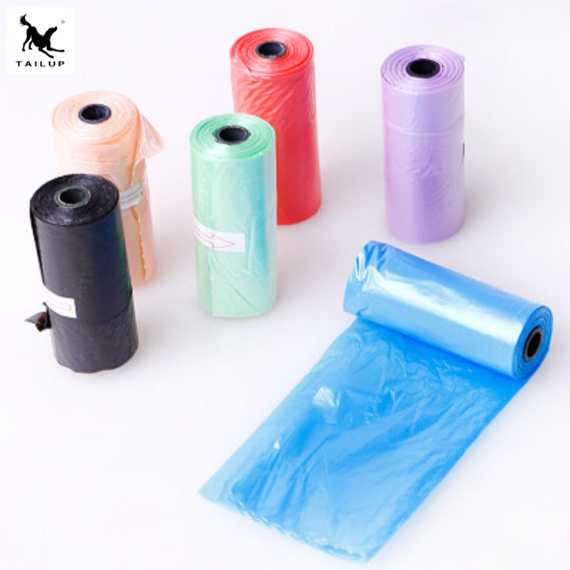 5 Rolls(75pcs) Degradable Pet Dog Waste Poop Bag Garbage Organizer Bag Shit Picking Bags