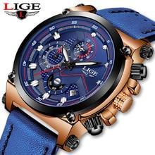 Reloje 2018 LIGE Men Watch Male Leather Automatic date Quartz Watches Mens Luxur