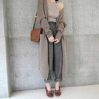 Autumn Women Sweater Open Knitted Cardigan Knitwear Jacket Coat Tops Outwear New
