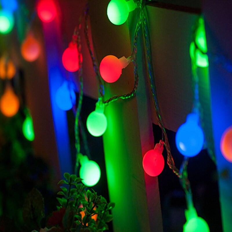 65a64f36a1f 3 unids lote 8 W 10 m 50led luz LED string Navidad llevó bola de luz Fiesta  de la boda decoración de jardín led lámparas (ac220v 110 V)
