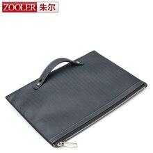 ZOOLER brand men leather handbag 2016 fashion genuine leather bag for men short card holder purses elegant #10086
