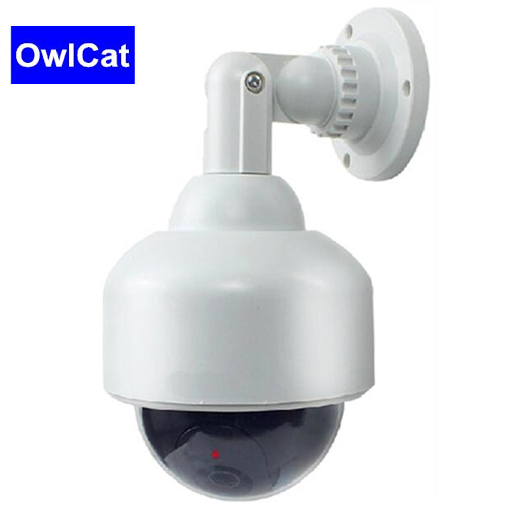 OwlCat Indoor/Outdoor PTZ Speed Dome Case Dummy Security CCTV Camera Fake Camera Battery Powered Flicker Blink LEDOwlCat Indoor/Outdoor PTZ Speed Dome Case Dummy Security CCTV Camera Fake Camera Battery Powered Flicker Blink LED