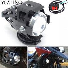Мотоцикл светодиодный фар 125 Вт 3000LM U5 Водонепроницаемый вождения пятно фара туман выключатель света для Kawasaki Ninja 250SL NINJA250SL