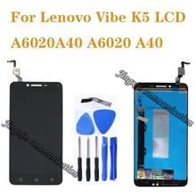 レノボ Vibe K5 液晶 + タッチスクリーンデジタイザ交換レノボ A6020A40 A6020 A40 、収入画面の修理部品