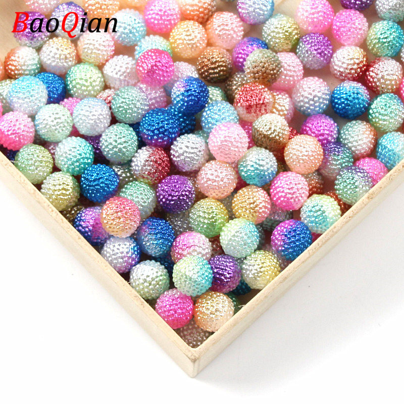 100PCS Candy Color Plastic Acrylic Beads DIY Bright Candy Color Loose Beads Making Necklace Bracelet Jewelry Accessories 8mm(China)