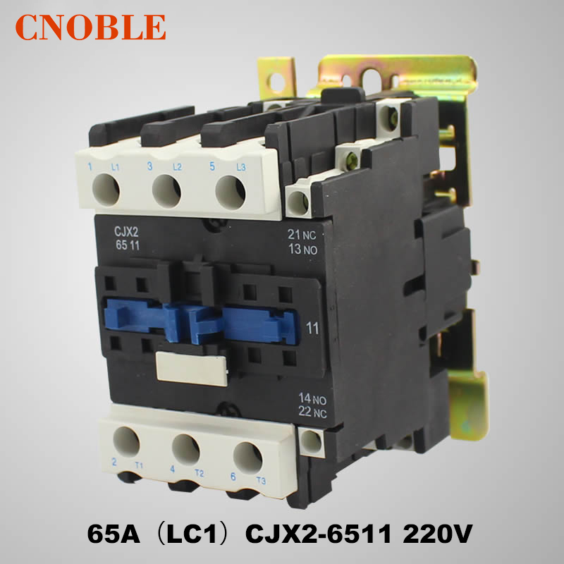 AC contactor 65A (LC1) CJX2-6511 220V Coil Voltage Silver Contact ac contactor sc n5px