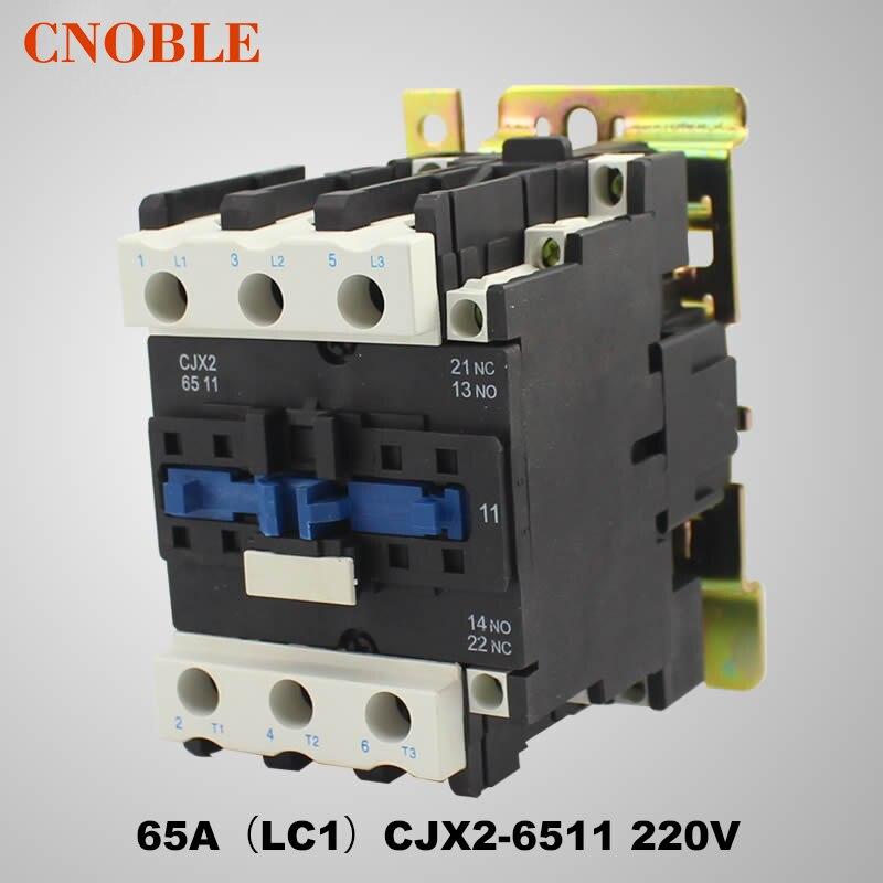 AC contactor 65A (LC1) CJX2-6511 220V Coil Voltage Silver Contact chint coil voltage 220v 380v 110v ac contactor 65a cjx2 6511 lc1 cjx4