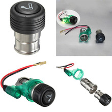 1 Pcs 2016 Newest Portable Green 12V 120W With Light Motorcycle Car Boat Cigarette Lighter Power Socket Outlet Plug