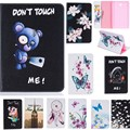 For Samsung Galaxy Tab E 9.6 Case SM-T560 /T561 Butterfly Flower Bear Pig Cartoon Wallet  PU Leather Back Silicon Tablet Cover