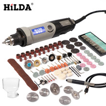 HILDA Variable Speed Rotary Tool Electric Tools 400W Mini Drill 6 position for Dremel Rotary Tools mini grinding machine(China)