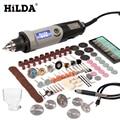 HILDA velocidad Variable herramienta rotativa herramientas eléctricas 400 W Mini taladro 6 posición rotativa Dremel herramientas mini máquina de pulir