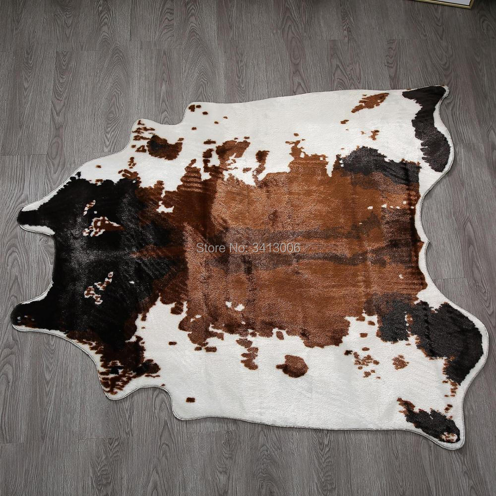 Cow Print Rug 4 1x4 2 Feet Faux Cowhide Rug Animal Printed
