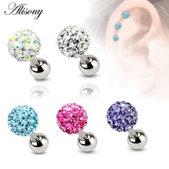 Alisouy 2PCS 3 4 5mm Trendy Crystal Ball Earrings Surgical Steel Ear Plugs Piercings Women s.jpg 350x350 - Alisouy 2PCS 3 4 5mm Trendy Crystal Ball Earrings Surgical Steel Ear Plugs Piercings Women's Ear Studs Screw ear Body Jewelry