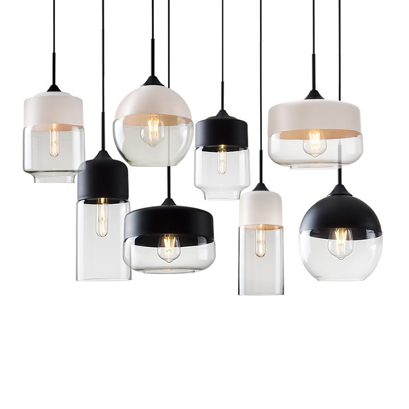 GZMJ Modern Metal Glass Lights Loft LED Nordic Pendant Lights Lamp Suspension Luminaire Hanging Lamps Home Lighting Lampshade tz modern pendant lights suspension luminaire noveity hanglamp for home lighting led vintage pendant lamp glass lampshade