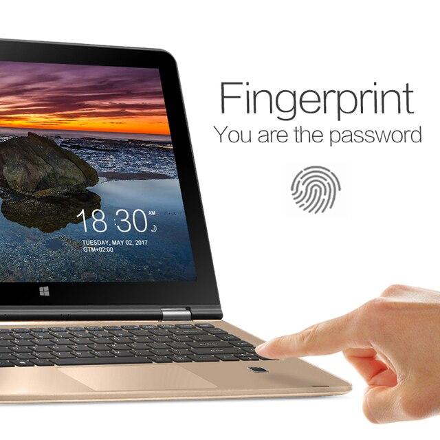 13.3 inch HD IPS Screen Quad Core Tablet PC VOYO VBOOK Intel Apollo Lake N3450 Laptop Touchscreen 8G+128G Fingerprint Recognit