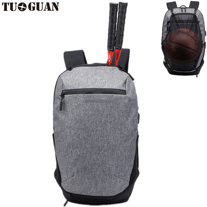 Sport Bag Backpack Gym Bag Fitness Nylon Waterproof Men Travel Duffel Package Tote sports racket bag with basketball soccer net