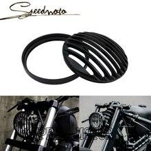НОВЫЙ Черный Алюминиевый мотоциклов Фара Гриль Крышка для Harley Sportster XL 883 1200 Бесплатная Доставка