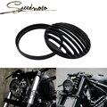 NUEVA Negro Cubierta de la Parrilla De Aluminio Del Faro de la motocicleta para Harley Sportster XL 883 1200 Envío Libre