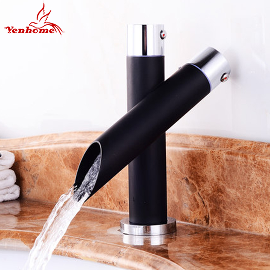 Luxury Creative Single Handle Black Painting Mixer Faucet Hot And ...