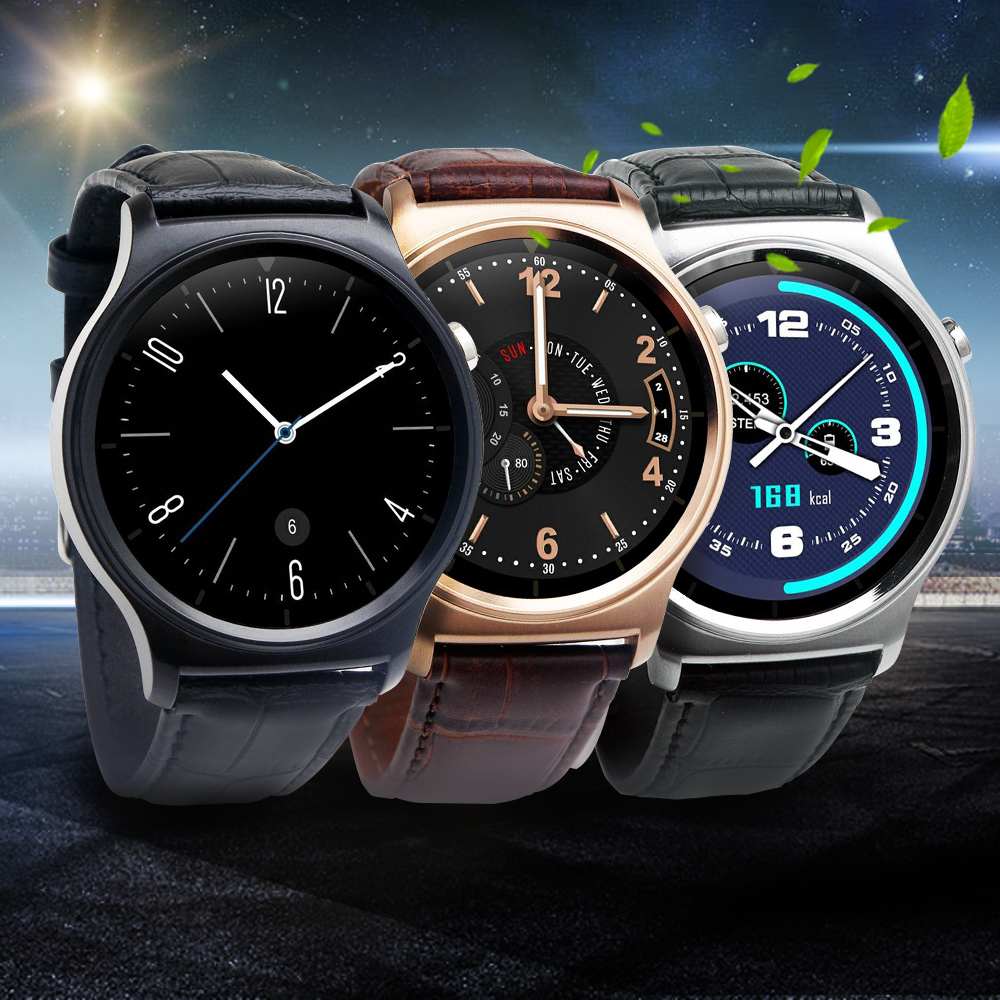 imágenes para Original GW01 Bluetooth 4.0 Reloj Inteligente IPS Pantalla Redonda Resistente Al Agua la Vida anti-perdida Smartwatch Apoyo Del Sistema iOS Android