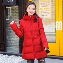 Brieuces new 2017 long solid keep warm hooded large faux fur collar winter jacket women fashion loose parka coat