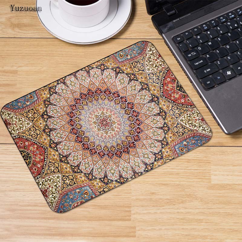 Yuzuoan Persian carpet Fashion mousepad laptop notbook computer gaming White Lock Edge mouse pad gamer play mats Cup Table Mat