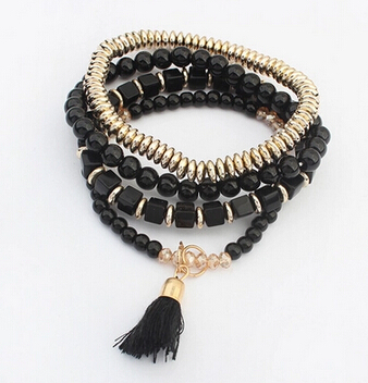 Have An Inquiring Mind S056 Multicolor Bohemian Ethnic Style Multilayer Beaded Tassel Elastic Charm Bracelets Jewelry Gift For Men And Women Jewelry & Accessories