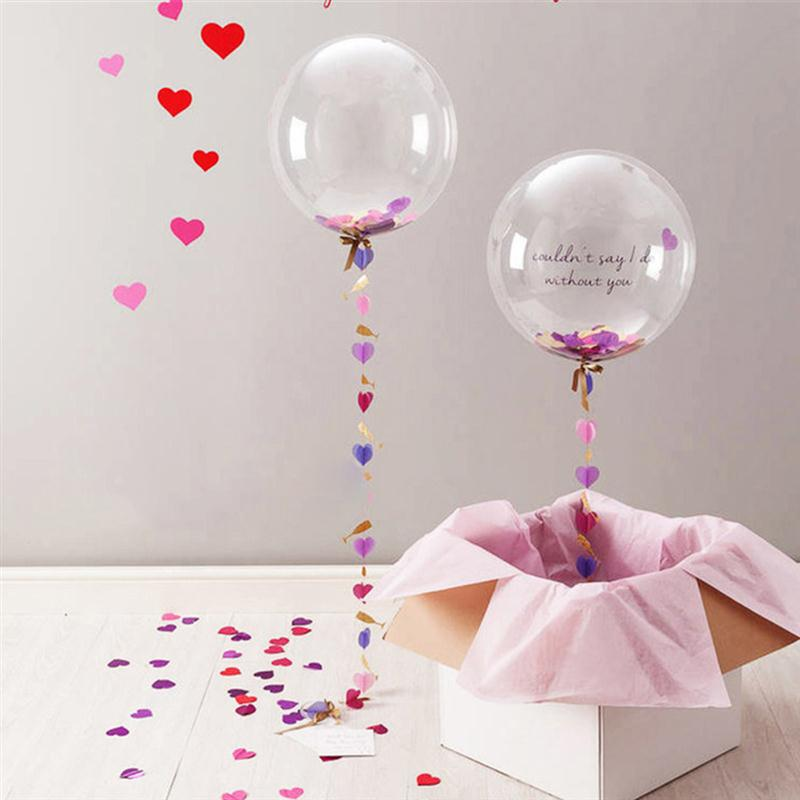 pulgadas clear latex globos de helio fiesta de cumpleaos de globos de boda confeti eventos
