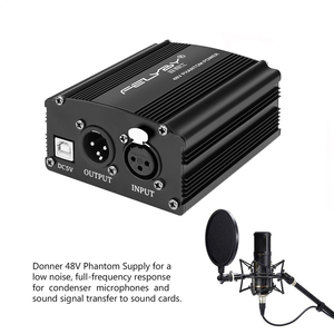 Image 5 - HOT! New 48V Phantom Power + USB Power Cable + XLR XLR Cables for any condenser microphone for better microphone sound quality.