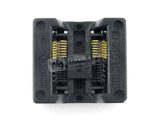 SSOP14 TSSOP14 OTS-14(34)-0.65-01 Enplas IC Test Burn-in Socket Programming Adapter 0.65mm Pitch 5.3mm Width module so32 soic32 sop32 to dip32 a 652d032221x wells ic programming adapter test burn in socket 1 27mm pitch 7 55mm width