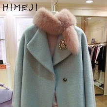 winter real fur scarf female fox fur ring with tail cute sweet color warm fur scarf small gray pink color fox scarf