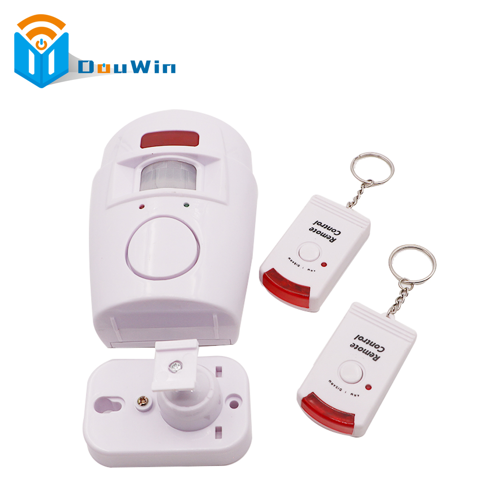 Motion Detector Home Security PIR MP Alert Infrared Sensor Anti-theft Alarm Monitor Wireless  system with 2 remote controller smart pir mp alert a9 anti theft monitor detector gsm alarm system for home