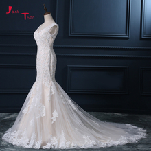 Jark Tozr 100% Real Picture V-neck Mermaid Wedding Dress