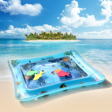 PVC Inflatable Baby Water Mat Fun Activity Play Center for Children Camping Mat Infants Exquisite Water Cushion Camping Mat