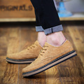 Solid Color Pu Leather Shoes Man 2017 Hot Sale Lace Up Fashion Breathable Flats Mens Low Cut Single Shoes Male Zapatos Hombre