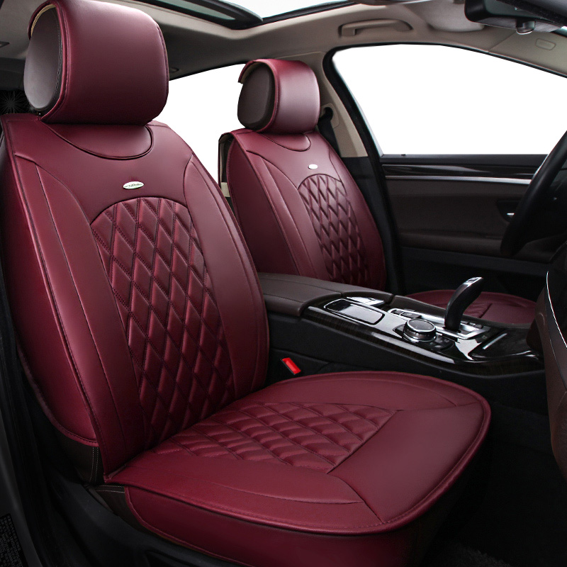 New Pu leather Auto Car Seat Covers Universal Automotive car seat cover for Volkswagen vw passat b5 b6 b7 polo 4 5 6 7 golf auto car seat cover car seat covers for volkswagen vw bora golf 3 4 5 6 7 gti golf r mk golf7 tiguan 2009 2008 2007 2006