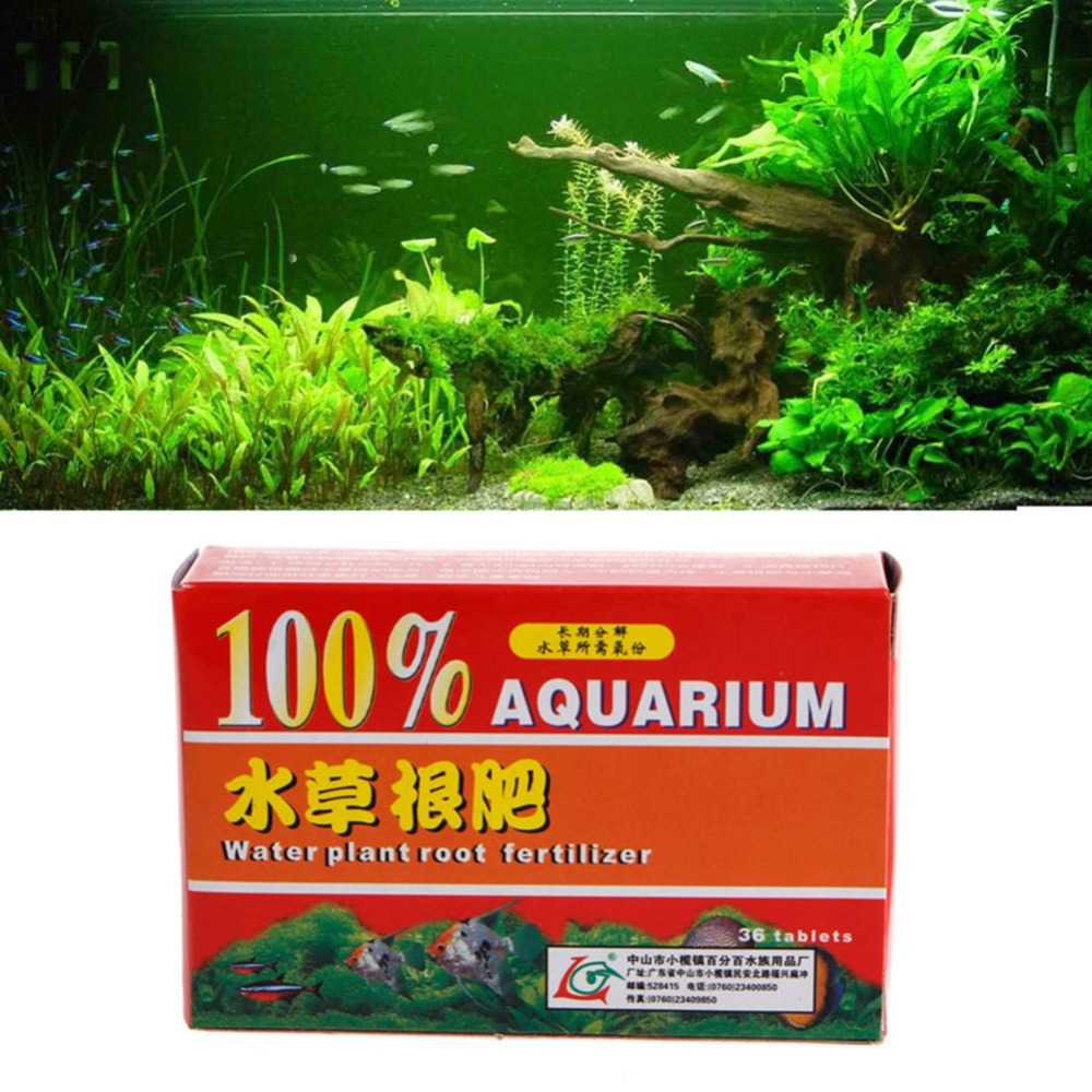 Nicrew 36pcs/Box Aquarium Water Plant Root Fertilizer Tablets For Aquarium Fish Tank Aquatic Cylinder Water Plant Fertilizers